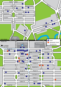 go to Adelaide Hotel Map