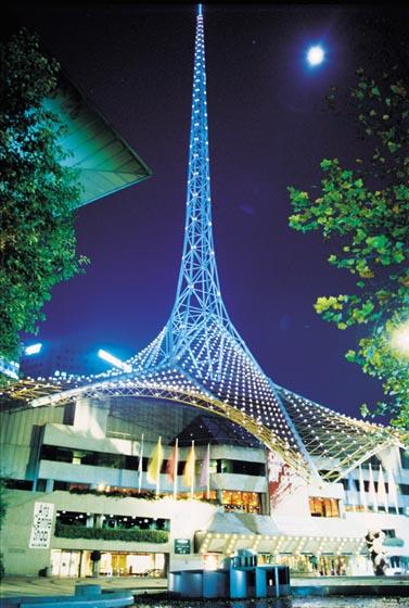 Victorian Arts Centre Melbourne At Night
