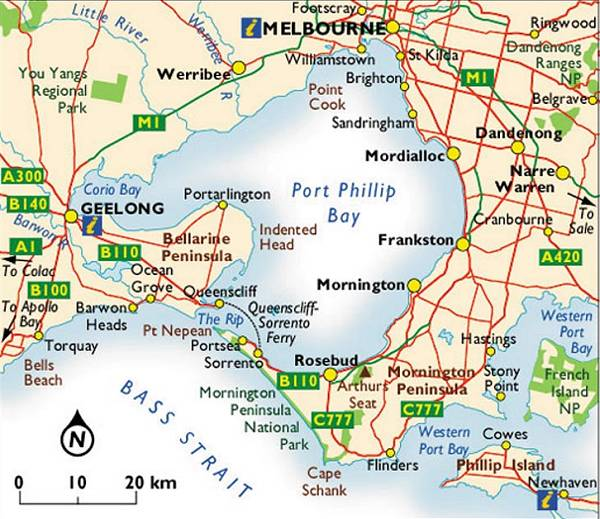 Map Of Mornington Peninsula Melbourne Maps – Bays & Mornington Peninsula
