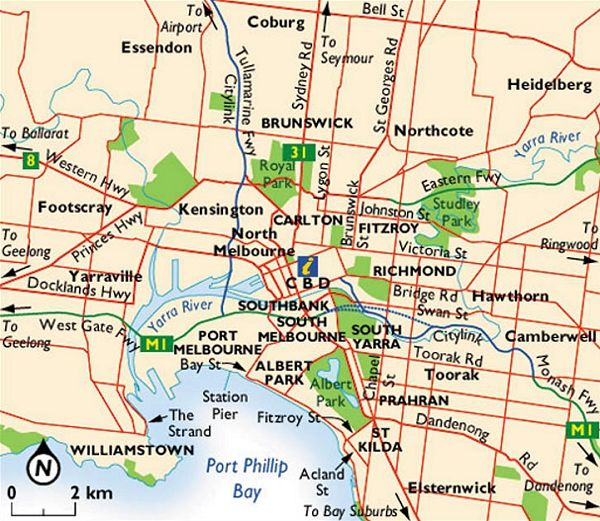Map of Greater Melbourne Victoria