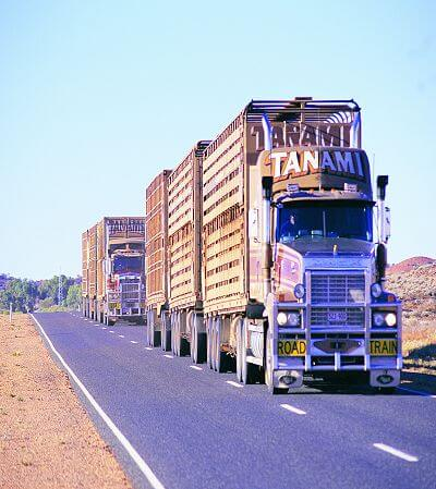 Road Trains on the Stuart Highway