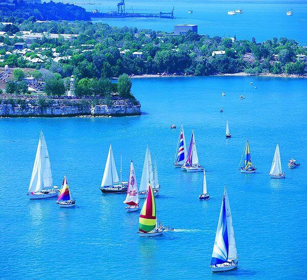 Yachts sail from Darwin in start of Darwin to Ambon Yacht Race